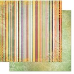 Bo Bunny - Autumn Song Collection - 12 x 12 Double Sided Paper - Stripe