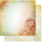 Bo Bunny - Autumn Song Collection - 12 x 12 Double Sided Paper - Sunflower