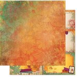 Bo Bunny - Autumn Song Collection - 12 x 12 Double Sided Paper - Twilight