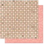 Bo Bunny - The Avenues Collection - 12 x 12 Double Sided Paper - Dot