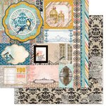 Bo Bunny - The Avenues Collection - 12 x 12 Double Sided Paper - Treasures