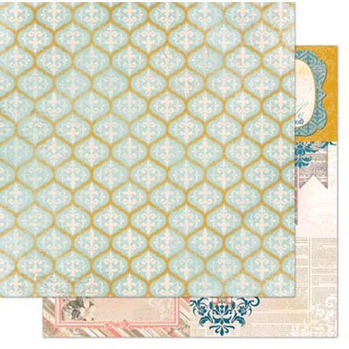 Bo Bunny - The Avenues Collection - 12 x 12 Double Sided Paper - Trellis