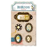 Bo Bunny - The Avenues Collection - Metal Embellishments - Trinkets