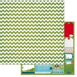 Bo Bunny - Elf Magic Collection - Christmas - 12 x 12 Double Sided Paper - Chevron