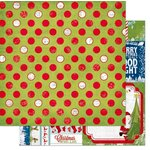 Bo Bunny - Elf Magic Collection - Christmas - 12 x 12 Double Sided Paper - Dot