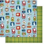 Bo Bunny - Elf Magic Collection - Christmas - 12 x 12 Double Sided Paper - North Pole