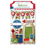 Bo Bunny - Elf Magic Collection - Christmas - Layered Chipboard Stickers with Glitter and Jewel Accents