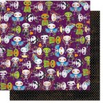 Bo Bunny - Fright Delight Collection - Halloween - 12 x 12 Double Sided Paper - Ghouls