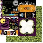 Bo Bunny - Fright Delight Collection - Halloween - 12 x 12 Double Sided Paper - Spooky
