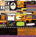 Bo Bunny - Fright Delight Collection - Halloween - 12 x 12 Cardstock Stickers - Combo