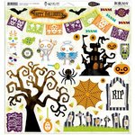 Bo Bunny - Fright Delight Collection - Halloween - 12 x 12 Chipboard Stickers
