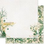 Bo Bunny - Silver and Gold Collection - Christmas - 12 x 12 Double Sided Paper - Winter