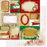 Bo Bunny - Silver and Gold Collection - Christmas - 12 x 12 Double Sided Paper - Yuletide