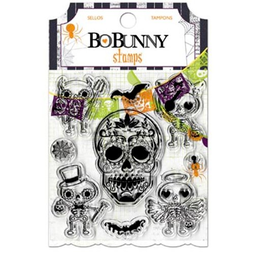Bo Bunny - Fright Delight Collection - Halloween - Clear Acrylic Stamps