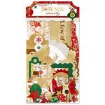 Bo Bunny - Silver and Gold Collection - Christmas - Noteworthy Journaling Cards
