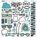 Bo Bunny - Zip-a-dee-doodle Collection - 12 x 12 Chipboard Stickers