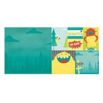 Bo Bunny - Our Lil Monster Collection - 12 x 12 Double Sided Paper - Adventure