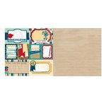 Bo Bunny - Pop Quiz Collection - 12 x 12 Double Sided Paper - Midterm