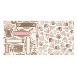 Bo Bunny - Primrose Collection - 12 x 12 Double Sided Paper - Garden