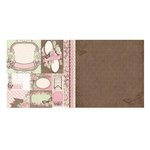 Bo Bunny - Primrose Collection - 12 x 12 Double Sided Paper - Smile