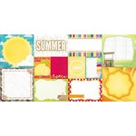 Bo Bunny - Lemonade Stand Collection - 12 x 12 Double Sided Paper - Clear Skies