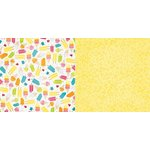 Bo Bunny - Lemonade Stand Collection - 12 x 12 Double Sided Paper - Cream Pop