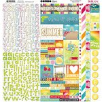 Bo Bunny - Lemonade Stand Collection - 12 x 12 Cardstock Stickers - Combo