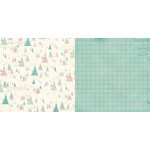 Bo Bunny - Candy Cane Lane Collection - Christmas - 12 x 12 Double Sided Paper - Frosty