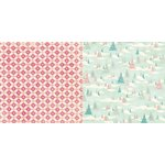 Bo Bunny - Candy Cane Lane Collection - Christmas - 12 x 12 Double Sided Paper - Sleigh Ride