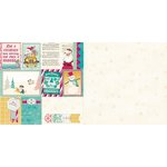 Bo Bunny - Candy Cane Lane Collection - Christmas - 12 x 12 Double Sided Paper - Snowflake