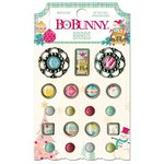 Bo Bunny - Candy Cane Lane Collection - Christmas - Brads