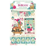 Bo Bunny - Candy Cane Lane Collection - Christmas - Layered Chipboard Stickers with Glitter and Jewel Accents