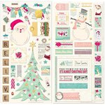 Bo Bunny - Candy Cane Lane Collection - Christmas - Chipboard Stickers
