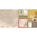 Bo Bunny - Christmas Collage Collection - 12 x 12 Double Sided Paper - Flurry