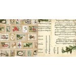 Bo Bunny - Christmas Collage Collection - 12 x 12 Double Sided Paper - Stamps