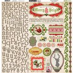 Bo Bunny - Christmas Collage Collection - 12 x 12 Cardstock Stickers - Combo