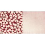 Bo Bunny - Madeleine Collection - 12 x 12 Double Sided Paper - Roses