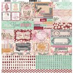Bo Bunny - Madeleine Collection - 12 x 12 Cardstock Stickers - Combo