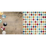 Bo Bunny - Wild Card Collection - 12 x 12 Double Sided Paper - Billiards