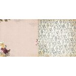Bo Bunny - Rose Cafe Collection - 12 x 12 Double Sided Paper - Rose Cafe