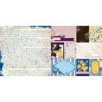 Bo Bunny - Rose Cafe Collection - 12 x 12 Double Sided Paper - Dreamers