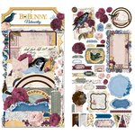 Bo Bunny - Rose Cafe Collection - Noteworthy Journaling Cards