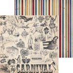 Bo Bunny - Carnival Collection - 12 x 12 Double Sided Paper - Sideshow