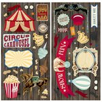 Bo Bunny - Carnival Collection - Chipboard Stickers