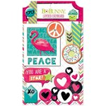Bo Bunny - Forever Young Collection - Layered Chipboard Stickers