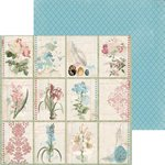 Bo Bunny - Garden Journal Collection - 12 x 12 Double Sided Paper - Notebook