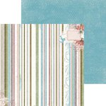 Bo Bunny - Garden Journal Collection - 12 x 12 Double Sided Paper - Stripe