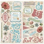 Bo Bunny - Garden Journal Collection - Chipboard Stickers
