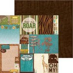 Bo Bunny - Safari Collection - 12 x 12 Double Sided Paper - Habitat