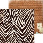 Bo Bunny - Safari Collection - 12 x 12 Double Sided Paper - Jungle